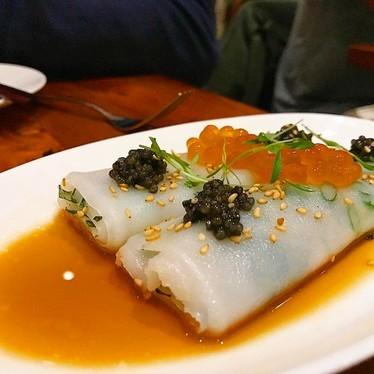 Cheong fun with caviar at Mister Jiu's