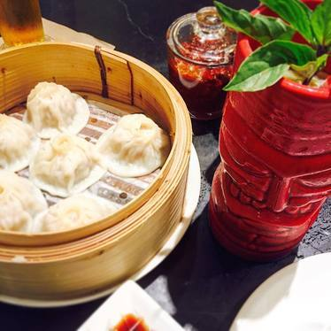 Soup dumplings, lily buds, wolf berry, handmade noodles at China Live