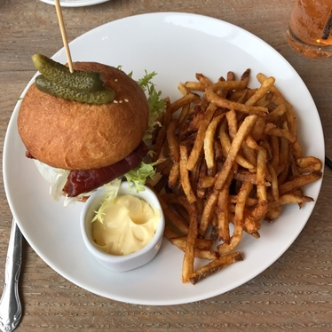 The fondue burger!!!  at Brenner Pass