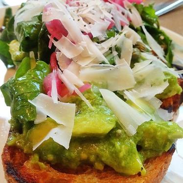 Grilled bread w/ avocado at Nopa