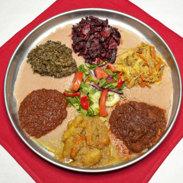 Any dish at Demera Ethiopian Restaurant