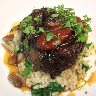 Lamb osso bucco at Vintner Grill