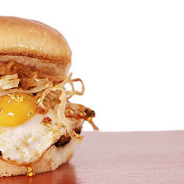 "Tamago ""egg"" burger at Fukuburger Truck"