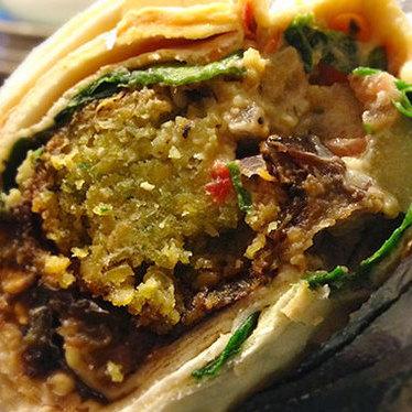 Falafel wrap at Baladie Cafe