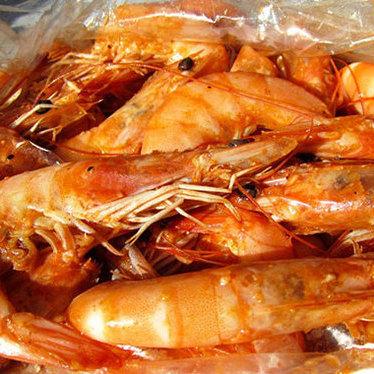 Shrimp w/ spicy garlic butter at Hot N Juicy Crawfish