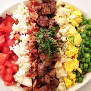 Classic Cobb salad w/ grilled beef tenderloin at Vintner Grill
