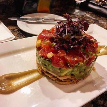 Chopped ahi sashimi, avocado salsa at Alan Wong's Honolulu