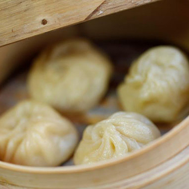 Soup dumplings at ChoLon Bistro