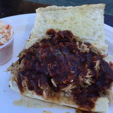Pulled pork sandwich at Buster's Southern BBQ