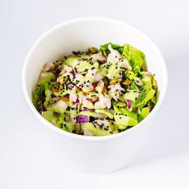 Chopped salad, smoked chicken, green goddess dressing at Locol