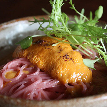 Umeboshi somen w/ uni at Nojo Ramen Tavern