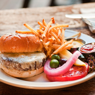 The BH Burger at Bankers Hill Bar & Restaurant