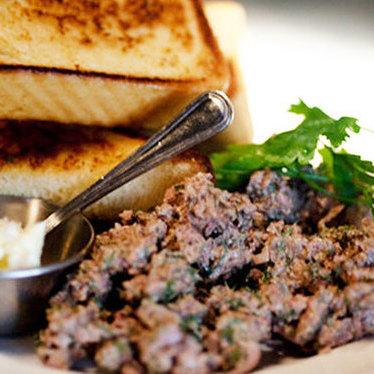 Chopped chicken liver at Au Cheval