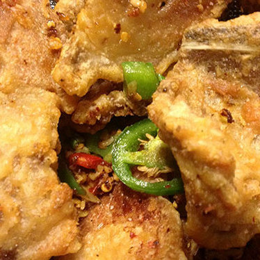 Fried pork chops w/ peppery salt at Fook Yuen Chinese Seafood Restaurant