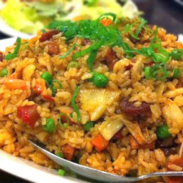 """Side Street Works"" fried rice at Side Street Inn"