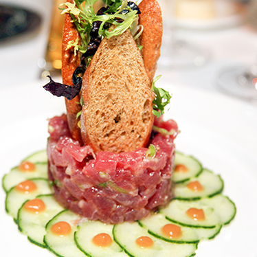 Yellowfin tuna tartare at Gotham Bar and Grill