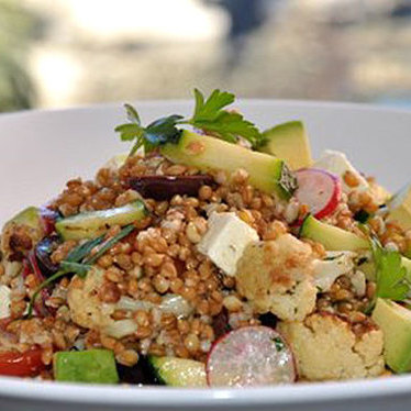 Anson mills farro salad at George's At The Cove