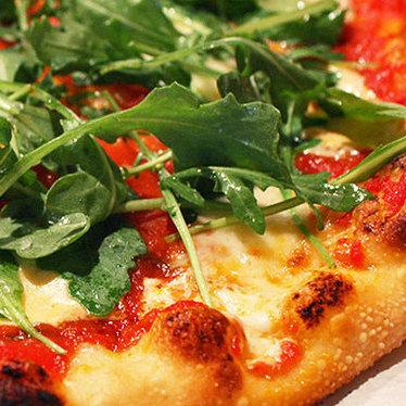 San Marzano, mascarpone, & arugula pizza at Pizzetta 211