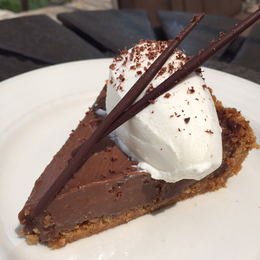 Chocolate cream pie at Farmstead at Long Meadow Ranch
