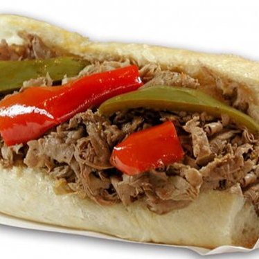 Italian beef w/ sweet & hot peppers at Al's Italian Beef