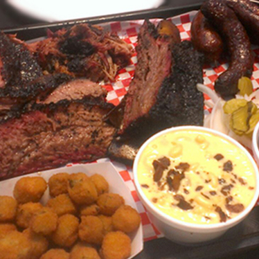 Pit master sampler at Pecan Lodge