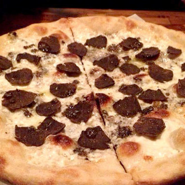 Black truffle pizza at Casa Nonna