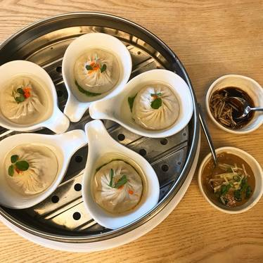 Soup dumpling radish consommé at Q By Peter Chang