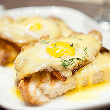 Quail egg toast at Ardesia