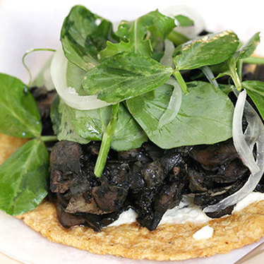 Tostada de hongos con huitlacoche at Big Star