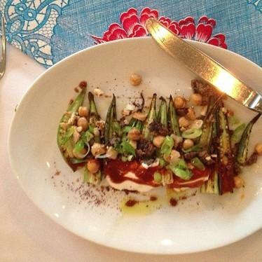 Okra salad at The National