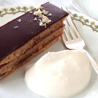Chocolate, plum and walnut torte at 20th Century Cafe