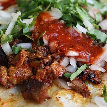 Tacos al pastor at Taquerias El Mexicano