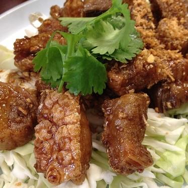 Crispy pork at Pa-Ord Noodle
