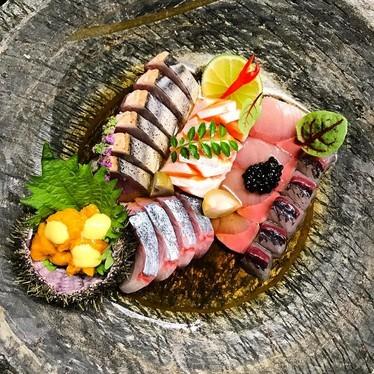 Katsuo, Ora King Sake, Shima Aji, Qc Uni, Hamachi, Mujols at Park Restaurant