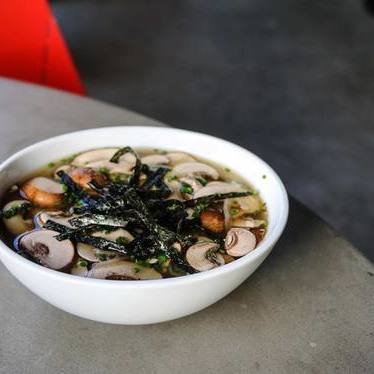 Warm bowl of miso soup at Botika