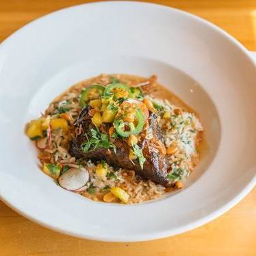 Slow-braised Adobo beef short ribs at Mondo