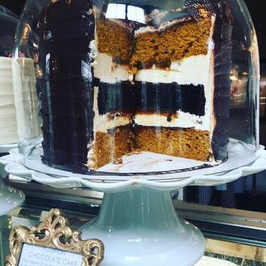 Pumpkin chocolate cake at The Cake Bake Shop