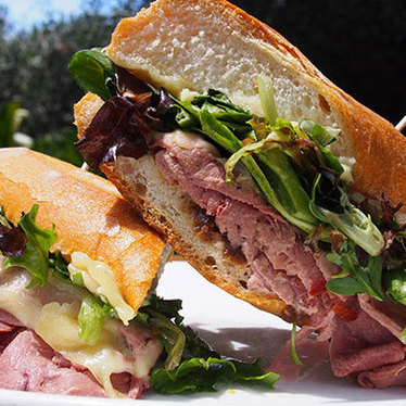 Smoked duck breast sandwich at Sunflower Caffé