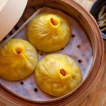 Pork & crab soup dumplings at RedFarm