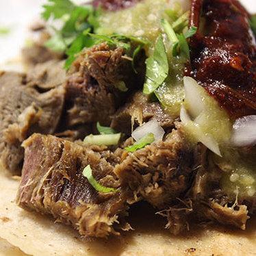 Lengua taco at Tacos y Quesadilla Mexico