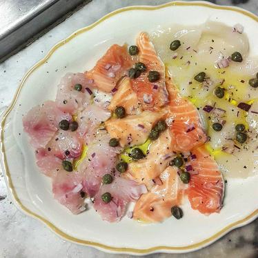 Sicilian Sashimi at Swan Oyster Depot