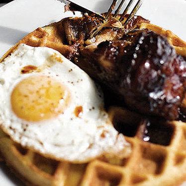 Waffle at Skillet Diner