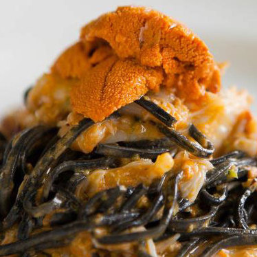 Squid ink chitarra freddi at Osteria Mozza