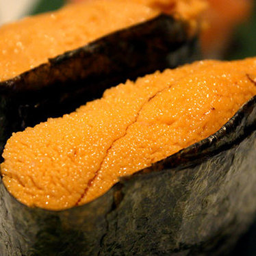 Uni sushi at Blue Fish Sushi