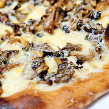 Mixed mushroom pizza at Milo and Olive