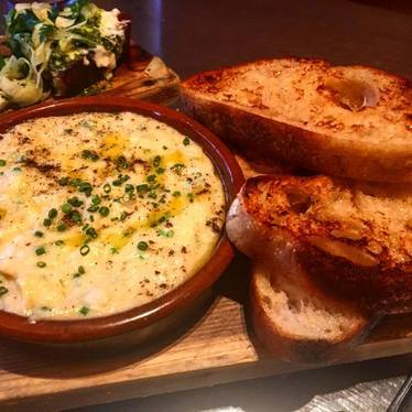Bread and cheese dip at Avec