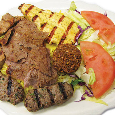 Combination feast at Pita Inn