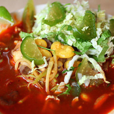 Pork belly vermicelli (fideos) caldo at XOCO