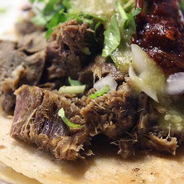 Lengua tacos at Taqueria Los Comales #8