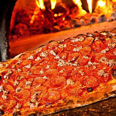 Meat pizza at Coalfire Pizza